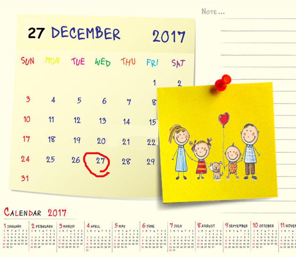 calendario 2017