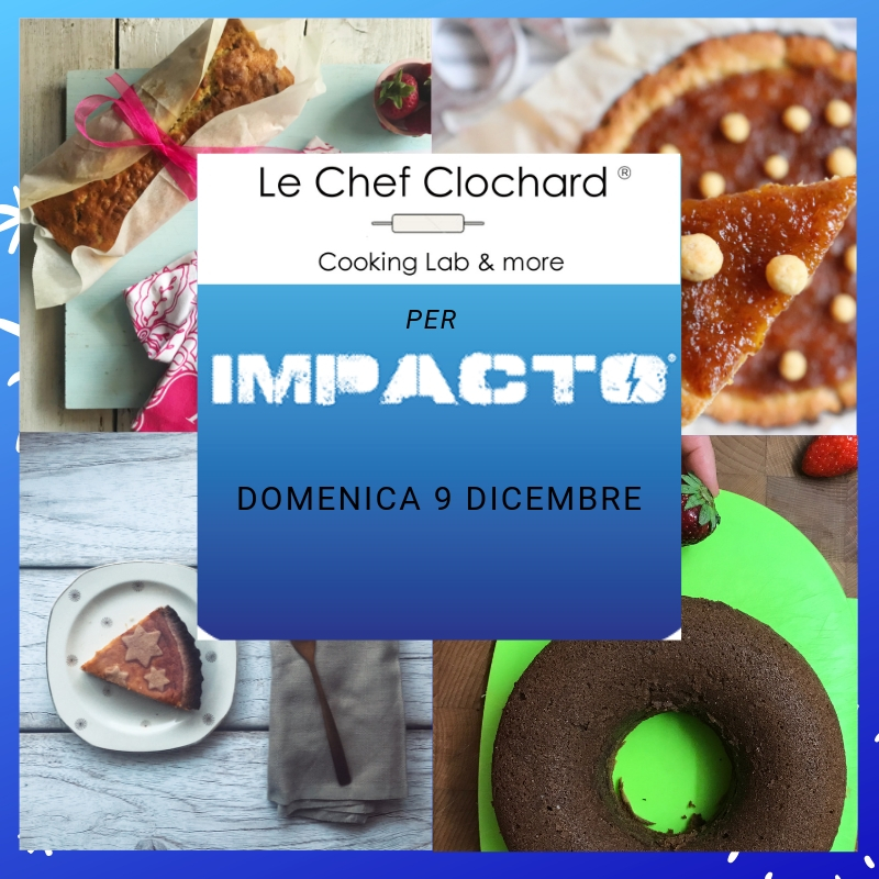 locandina con dolci e logo impacto training