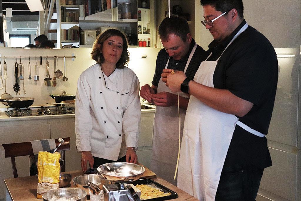 lezione di cucina a casa