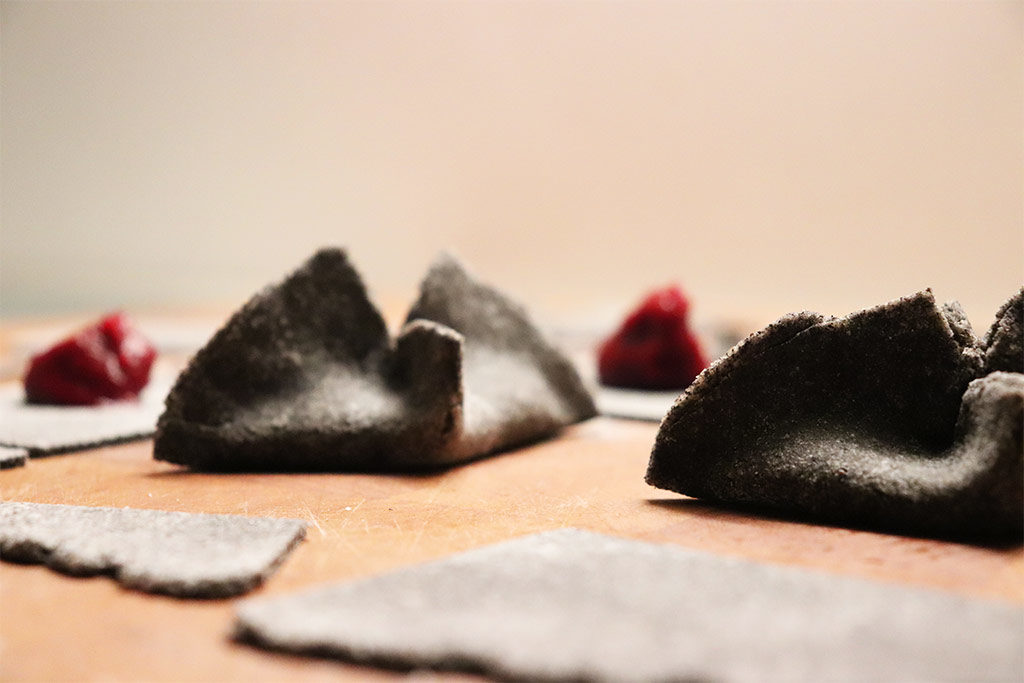 foto dei ravioli freschi con farina di riso venere