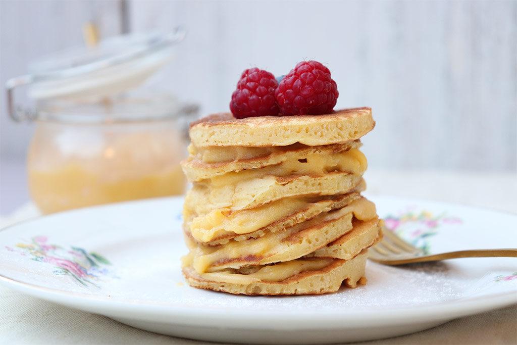 layer pancake farcito con crema senza lattosio