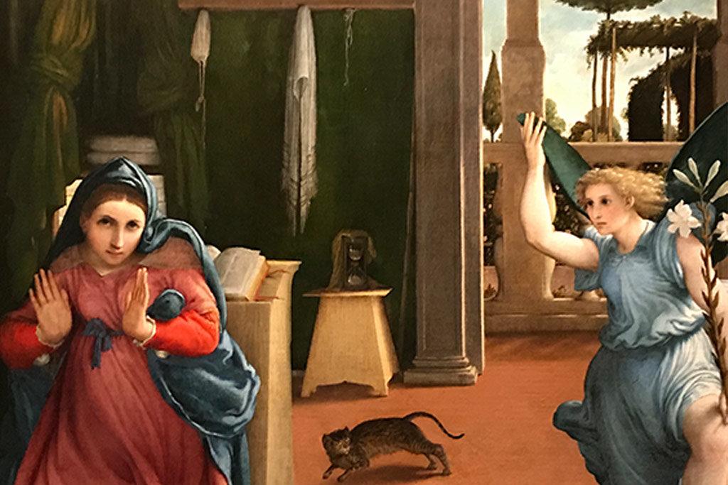 Lorenzo Lotto - L'annunciazione - 1535