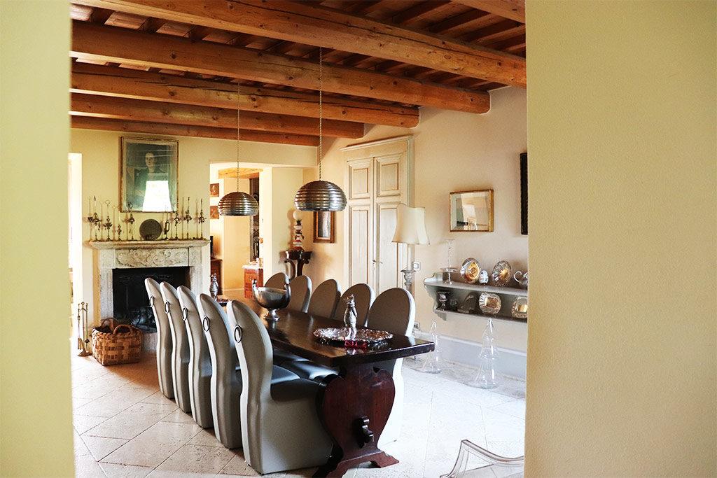 foto della sala da pranzo del Relais il Margarito