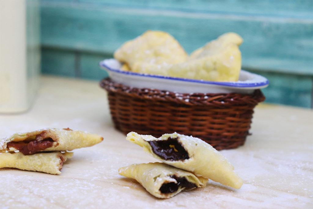foto dei ravioli dolci fritti farciti