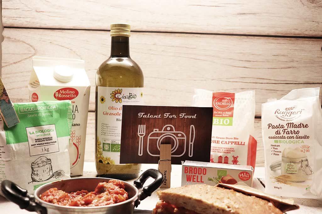 foto dei prodotti scelti per il contest talent for food