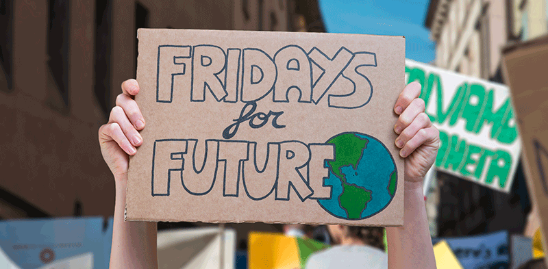foto di un cartello Fridays for future
