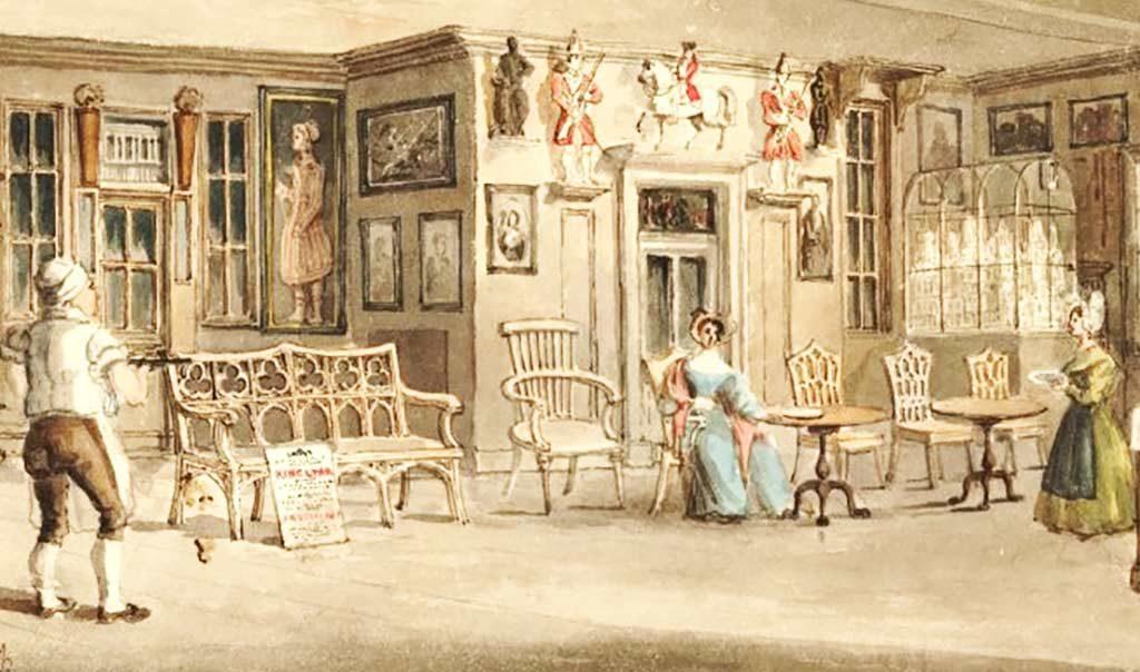 immagine d'epoca della Chelsea Bun House
