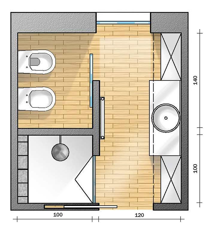 layout bagno con vasca