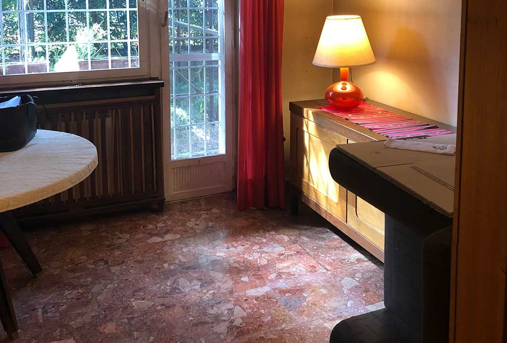 pavimento in graniglia rosso Verona
