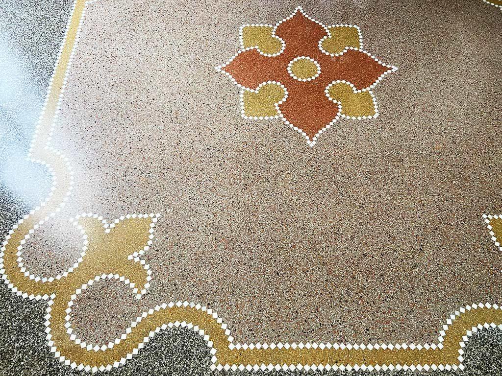 foto di un pavimento alla veneziana