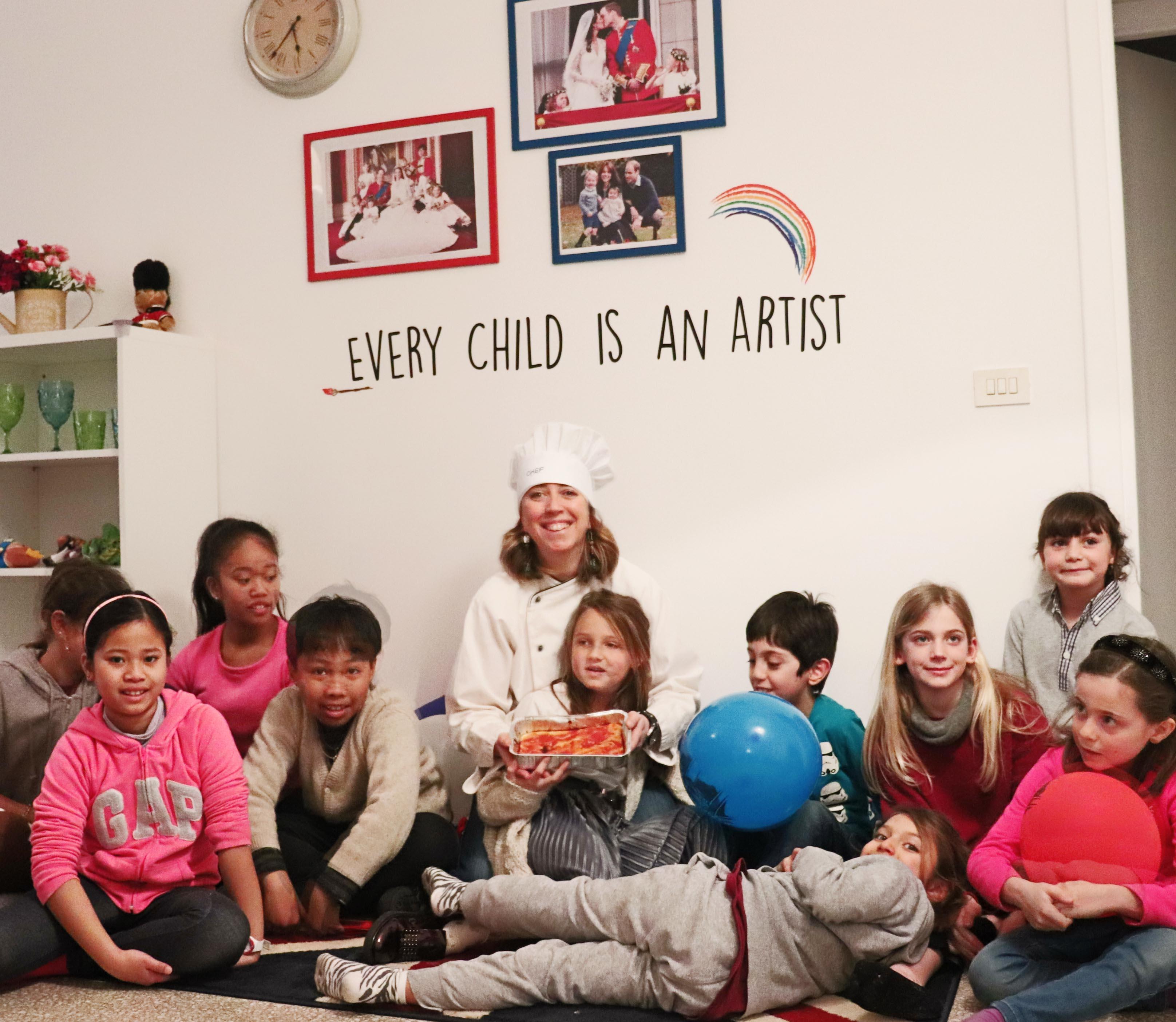 foto di gruppo- laboratorio di cucina per bambini