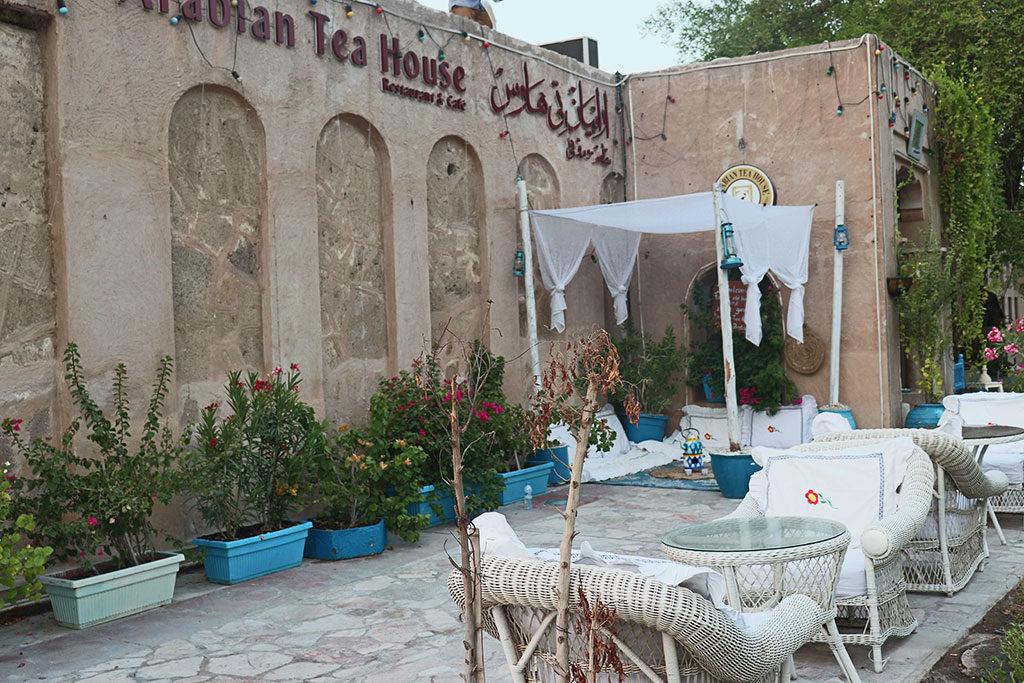 tavolini e divenenti esterno della tea house