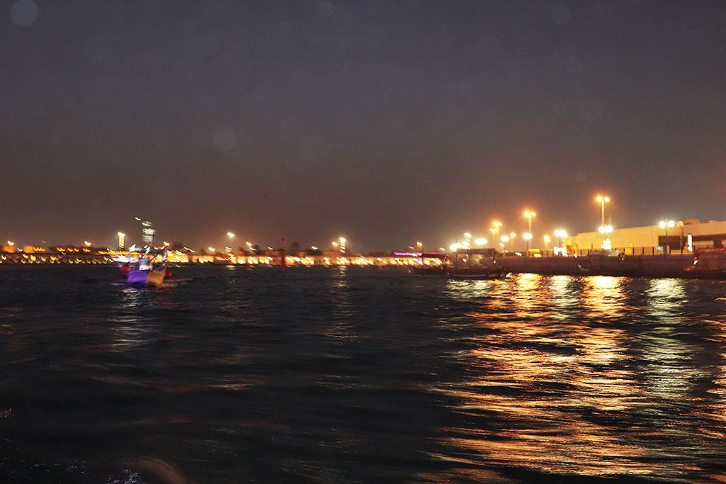 il canale di deriva di notte