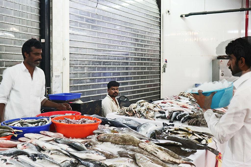 I banchi del pesce del fish market