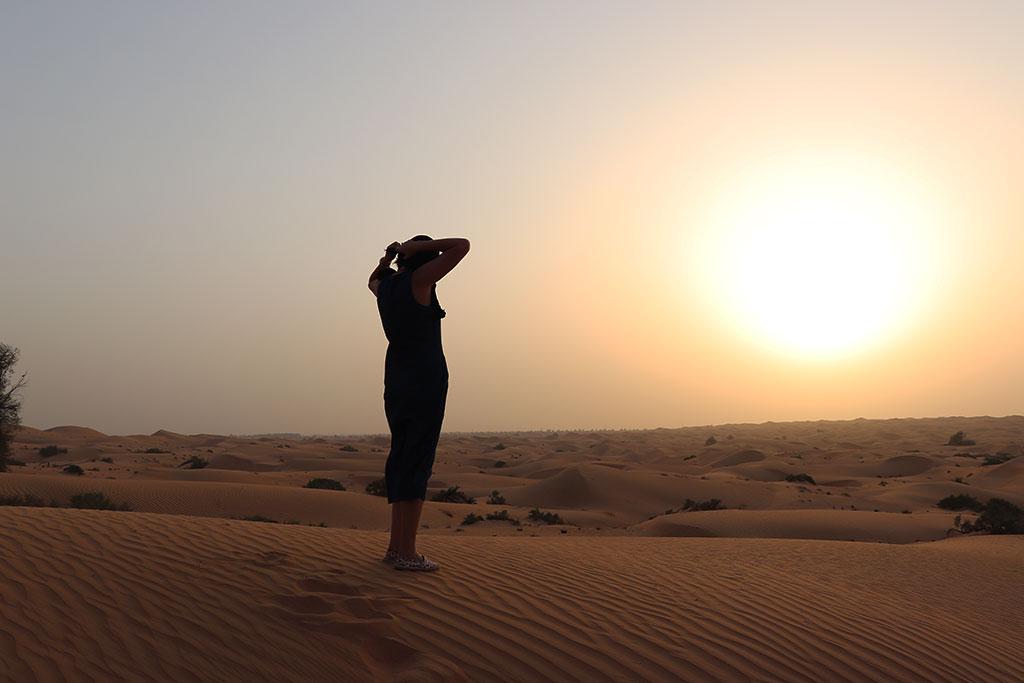 tramonto nel deserto del quarto vuoto