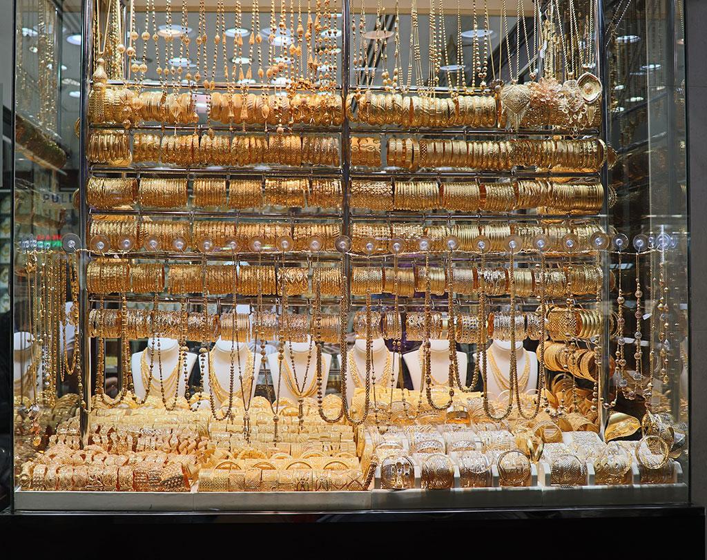 vetrina dell'oro nel suo di Deira