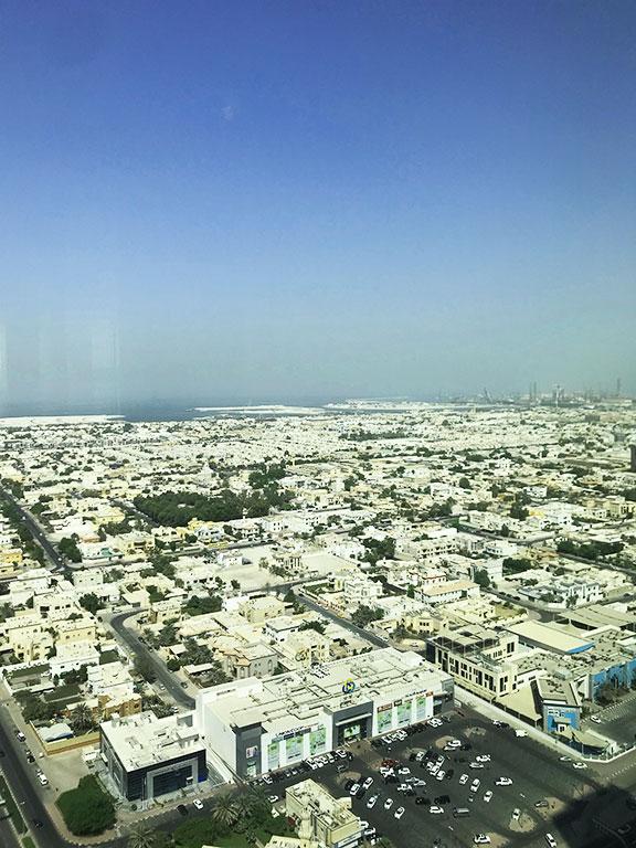 vista della zona residenziale della città
