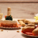 close up della cheesecake salata