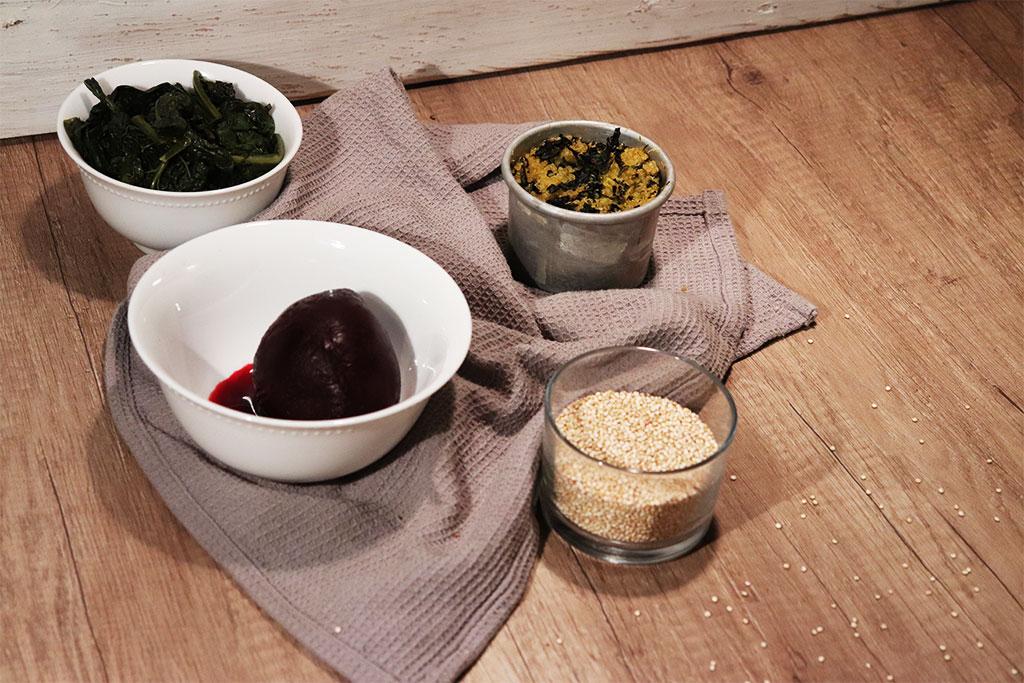 foto degli ingredienti per il tortino