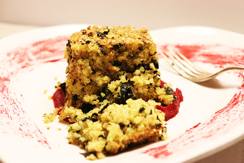 foto del tortino di quinoa e rape rosse