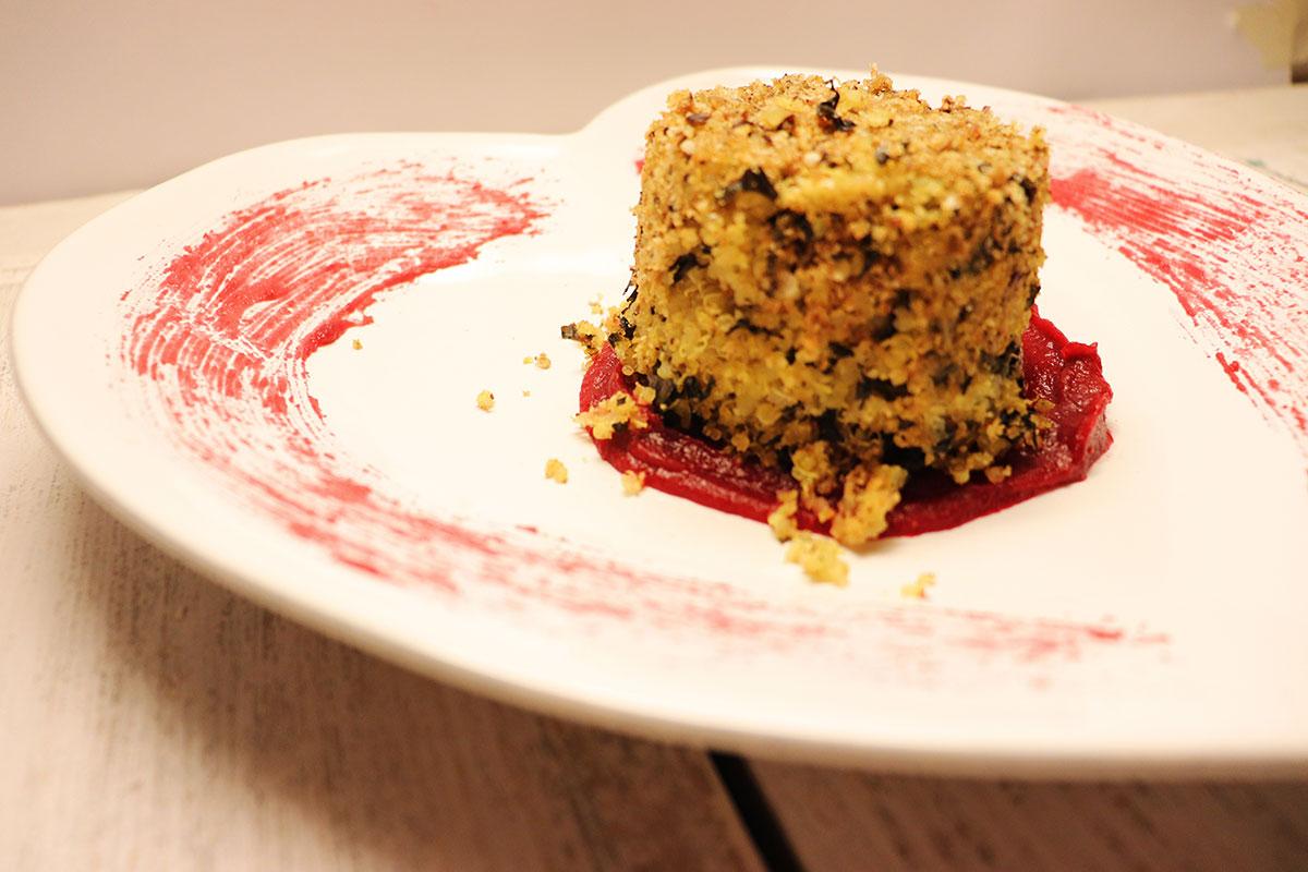 foto del tortno di quinoa per san valentino
