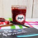 foto del barattolo della confettura di fragole