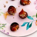 fichi gorgonzola e speck croccante
