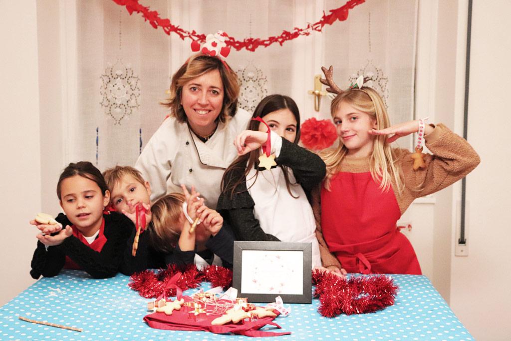 foto di gruppo del laboratorio di cucina per bambini